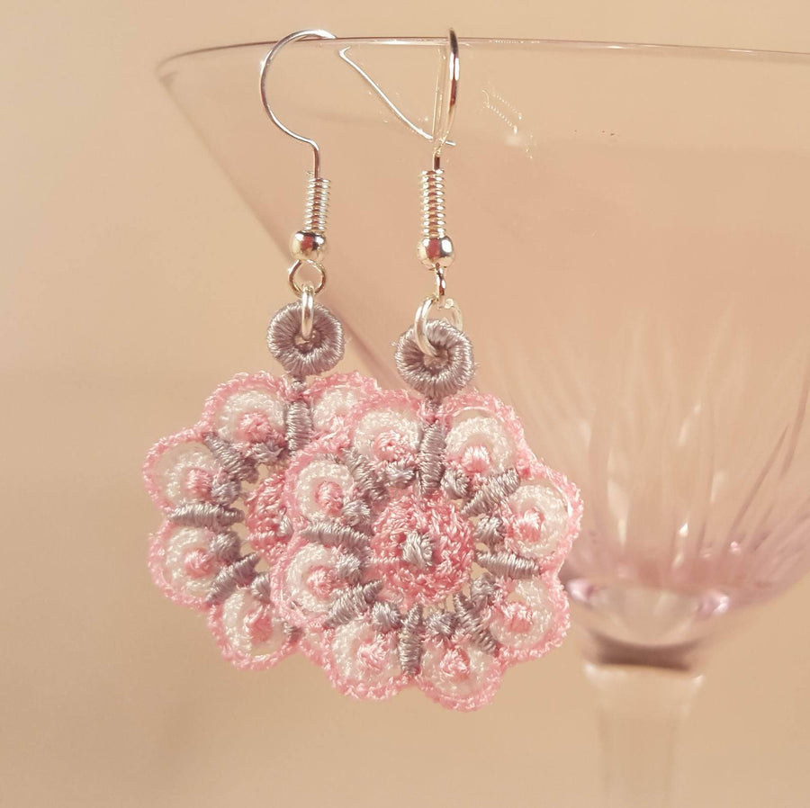 Erin Miniature Freestanding lace Earrings - a-stitch-a-half