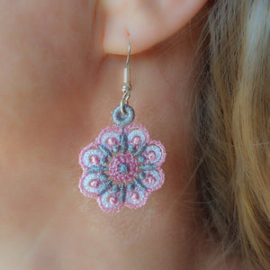 Miniature Freestanding Lace Earrings Combo 1 - a-stitch-a-half