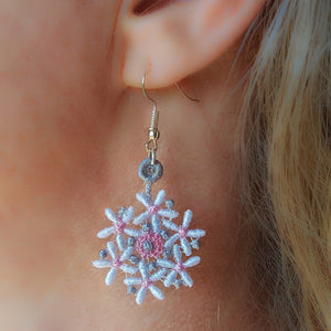 Charlotte Miniature Freestanding lace Earrings - astitchahalf