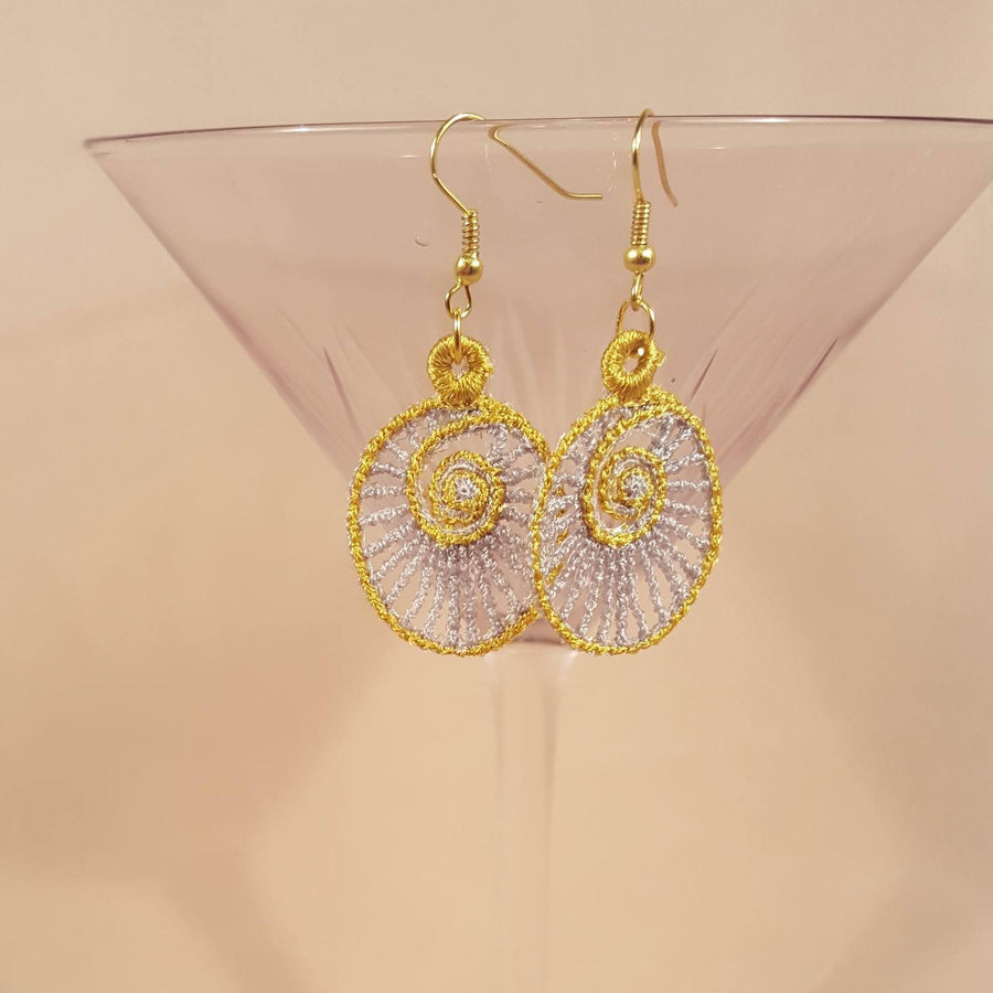 Layla Miniature Freestanding lace Earrings - a-stitch-a-half