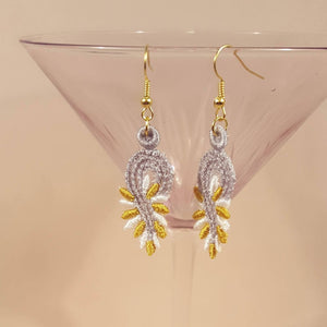 Lily Miniature Freestanding lace Earrings - a-stitch-a-half