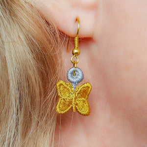 Leah Miniature Freestanding lace Earrings - a-stitch-a-half