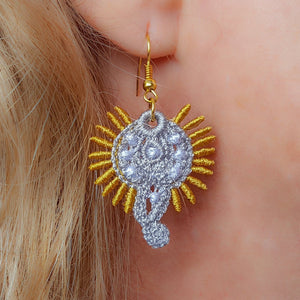 Miniature Freestanding Lace Earrings Combo 2 - a-stitch-a-half