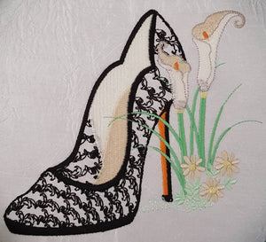 Elegant Lace Shoe - a-stitch-a-half