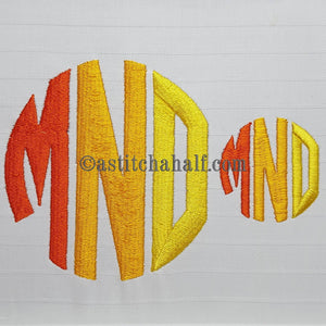 Circle Monogram Letters MNO - astitchahalf