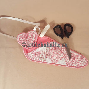 Hearts Scissor Cases with Hearts Fob