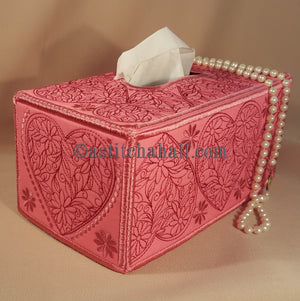 Sweetheart Tissue Box Cover - a-stitch-a-half