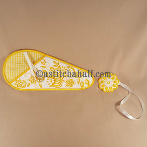 Just Flowers Scissor Cases with Applique Fob