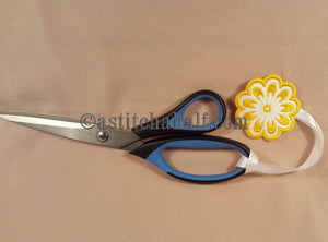 Just Flowers Scissor Cases with Applique Fob - a-stitch-a-half