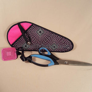 Gorgeous Geometric Scissor Cases with Fob