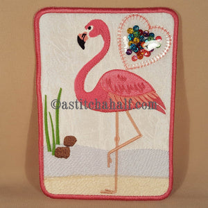 Fun Flamingo Mug Rug
