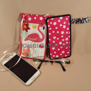 Flamingo Eyeglass and Cellphone Holder Duo - astitchahalf