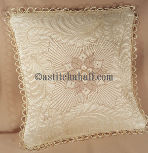Feathers Latte Pillow Quilt Combo - a-stitch-a-half