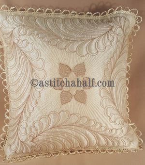 Feathers Latte Pillow Quilt Combo - astitchahalf