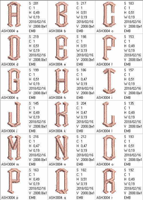 Point Alphabet Letters - a-stitch-a-half
