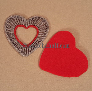 Little Freestanding Lace Motif Heart of Hearts - a-stitch-a-half