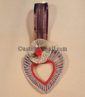 Little Freestanding Lace Motif Heart of Hearts - aStitch aHalf