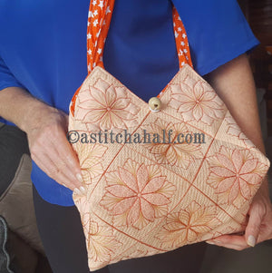 Taylor Tote Bag Square Quilted Blocks