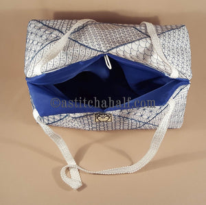 Japanese Sashiko Quilt Blocks and Tote Bag - a-stitch-a-half
