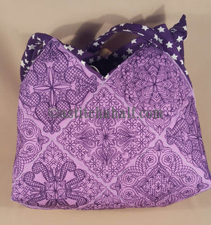 Tabetha Quilt Blocks and Tote Bag - a-stitch-a-half