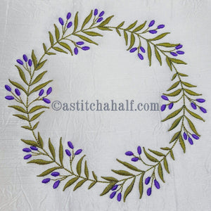 Olive Wreath - a-stitch-a-half