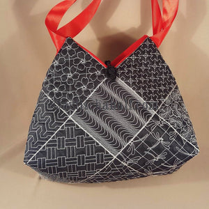 Keiko Sashiko Quilt Blocks and Tote Bag - a-stitch-a-half