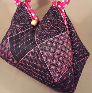 Takara Sashiko Quilt Blocks and Tote Bag