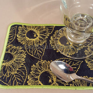 Chalk Board Sunflowers and Mug Rug - a-stitch-a-half