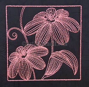 Chalk Board Spring Flowers - a-stitch-a-half
