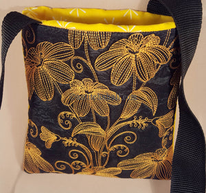 Chalk Board Spring Flowers Cross Body Bag - astitchahalf