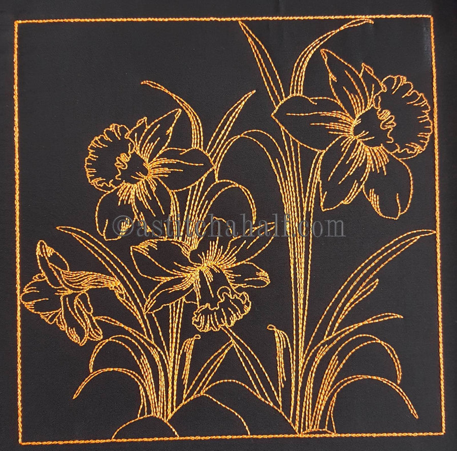 Chalk Board Daffodil Cross Body Bag - a-stitch-a-half