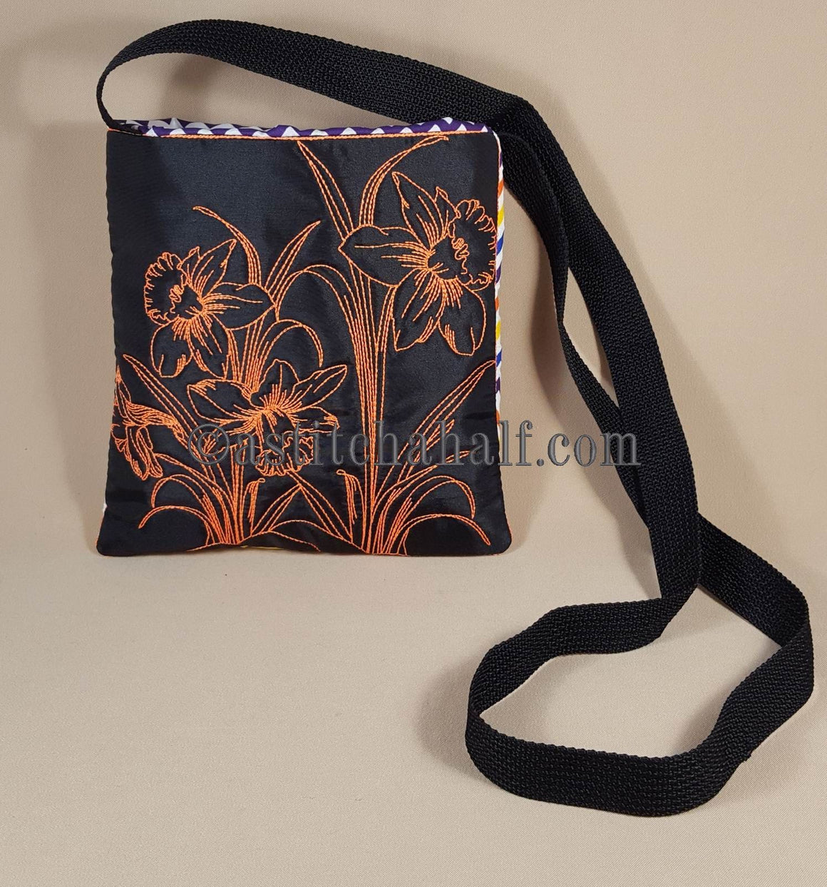 Chalk Board Daffodil Cross Body Bag - astitchahalf