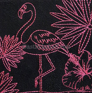 Chalk Board Flamingo Cross Body Bag - astitchahalf
