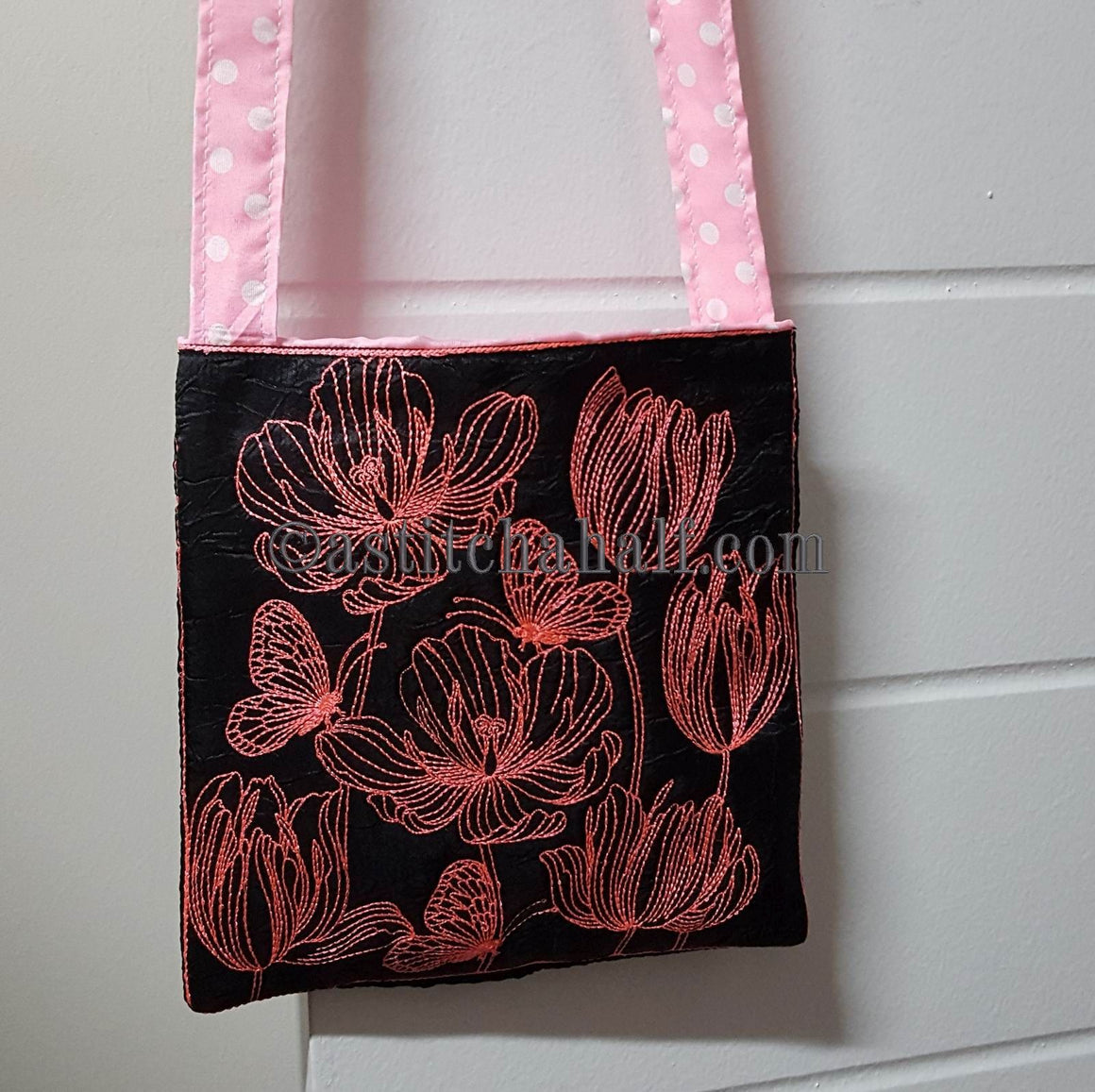 Tender Tulips Chalk Board Cross Body Bag - a-stitch-a-half