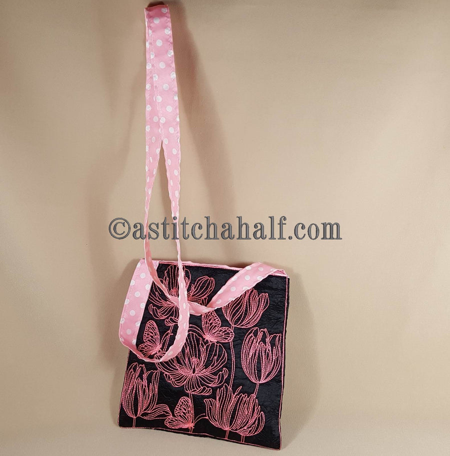 Tender Tulips Chalk Board Cross Body Bag