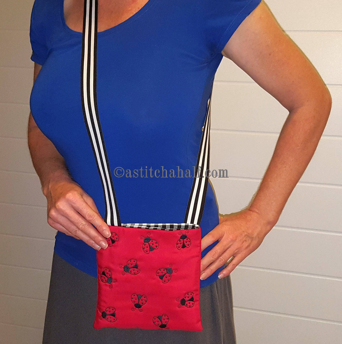 Ladybug Monochrome Cross Body Bag
