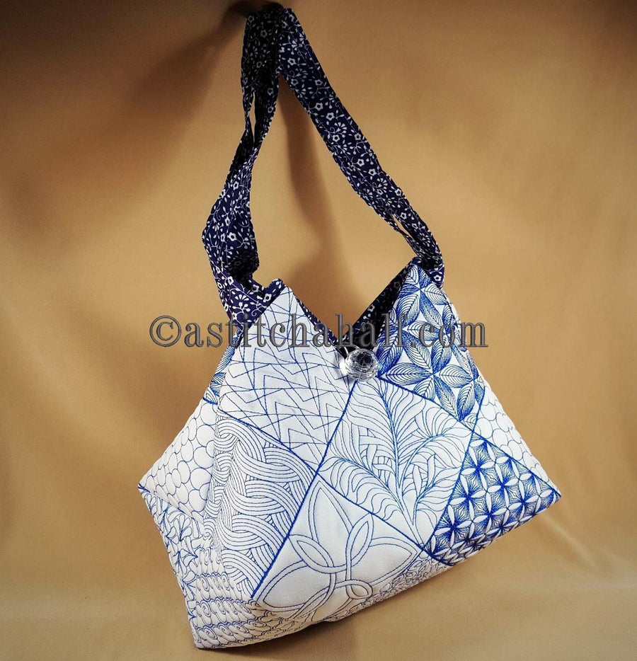 Shinon Japanese Quilt Blocks and Tote Bag - a-stitch-a-half