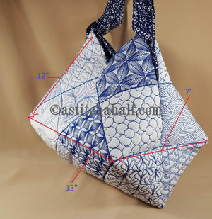 Shinon Japanese Quilt Blocks and Tote Bag