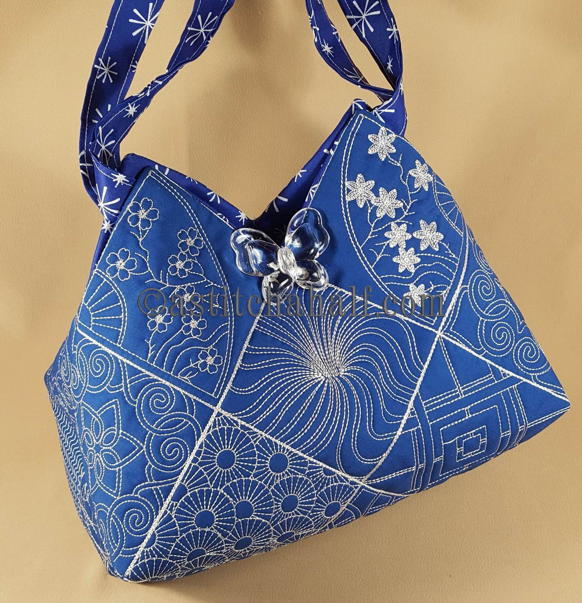 Sumire Japanese Quilt Blocks and Tote Bag - a-stitch-a-half