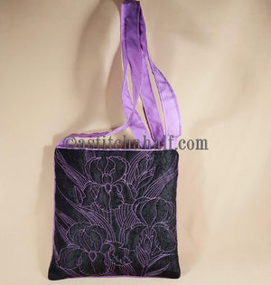 Iris Infusion Chalk Board Cross Body Bag - a-stitch-a-half