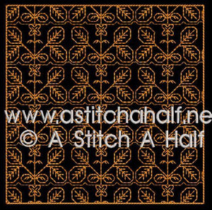 Fiorella Spanish Blackwork Quilt Blocks and Tote Bag - astitchahalf