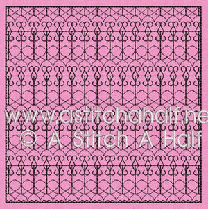 Sofia Spanish Blackwork Quilt Blocks and Tote Bag