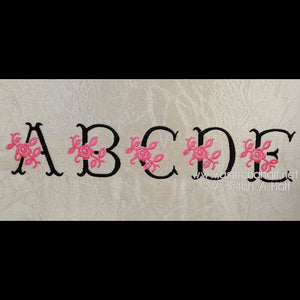 Antique Rose Monogram Font - a-stitch-a-half