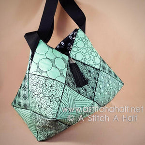 Reiko Japanese Quilt Blocks and Tote Bag
