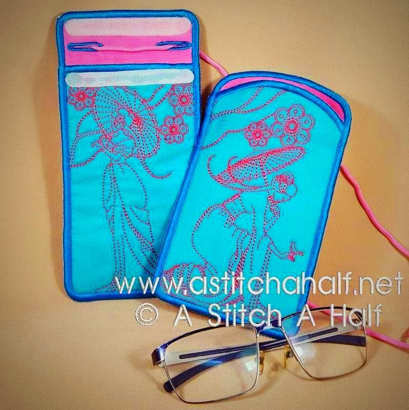 Yuku Haru All In The Hoop Eyeglass and Cellphone Pouches
