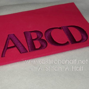 3D London Alphabet - a-stitch-a-half