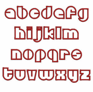 Discotheque Lower Case Letters - a-stitch-a-half