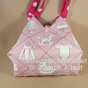 Akachan Baby Japanese Tote and Quilt Blocks - a-stitch-a-half