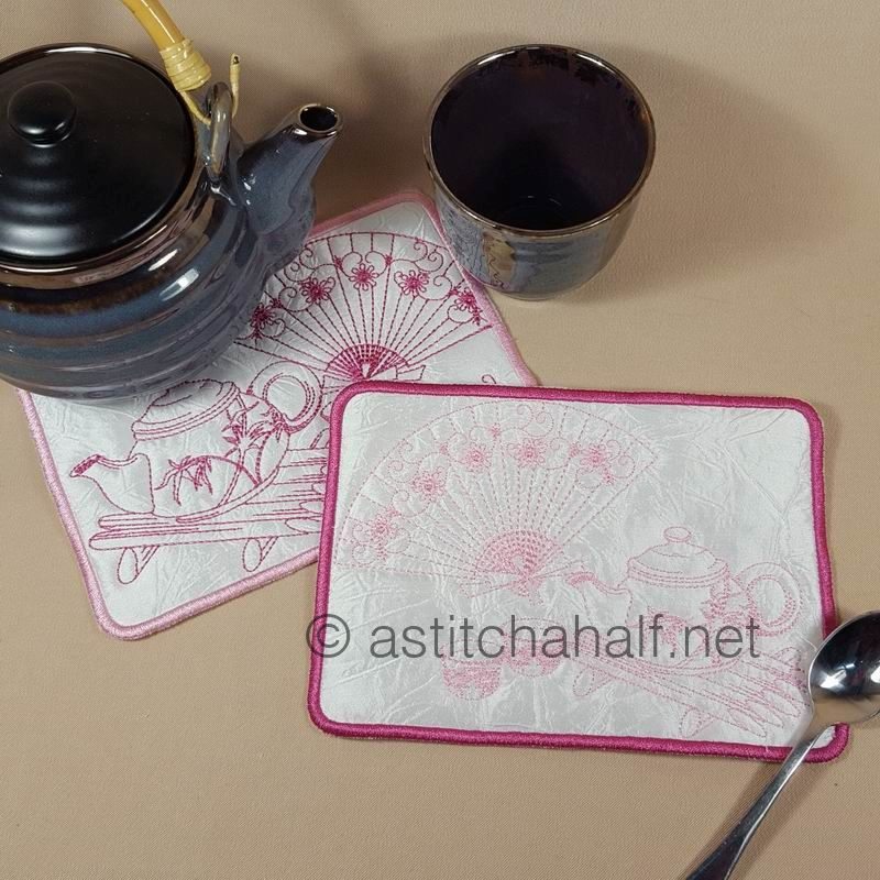 Japanese Tea Mug Rugs - a-stitch-a-half