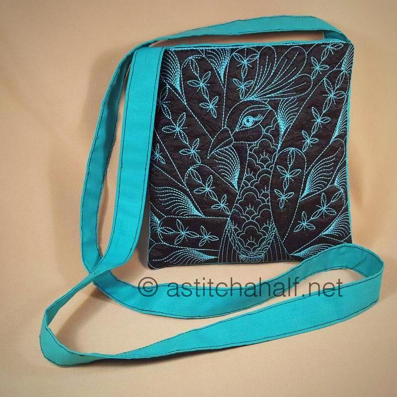Duo Chalk Board Peacock and Sunbird Cross Body Bags - a-stitch-a-half